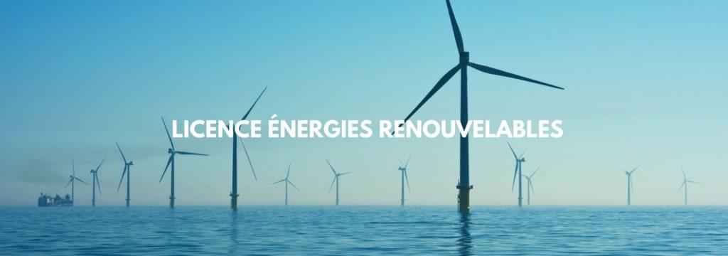 Licence Pro en efficacité énergétique et énergies renouvelables