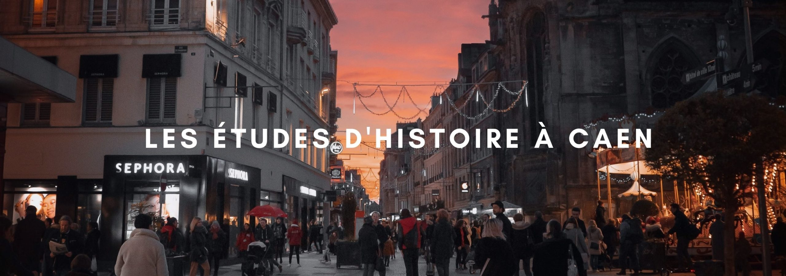 Les études d'Histoire à Caen