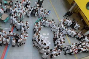 Les étudiants en médecine de Caen