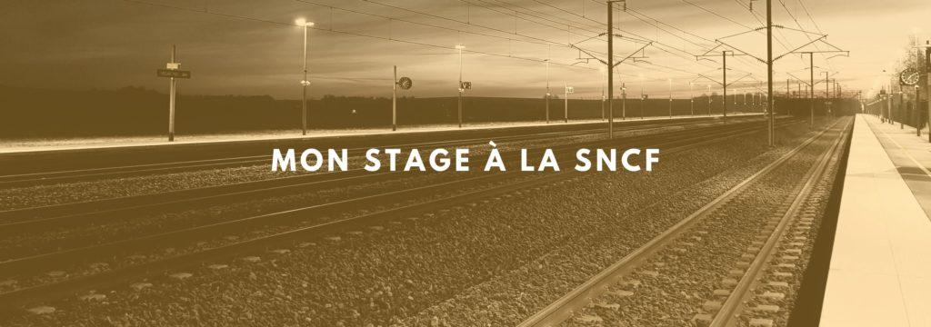 Stage à la SNCF