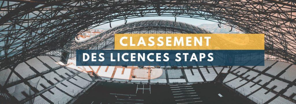 Classement STAPS