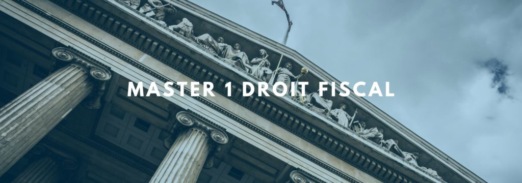 Master Droit Fiscal