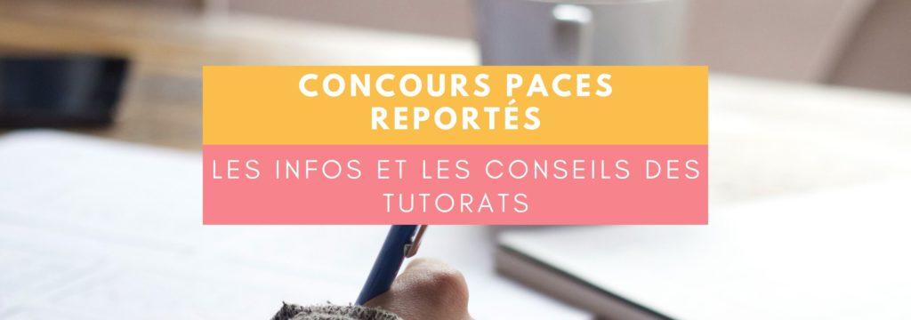 Concours PACES reportés