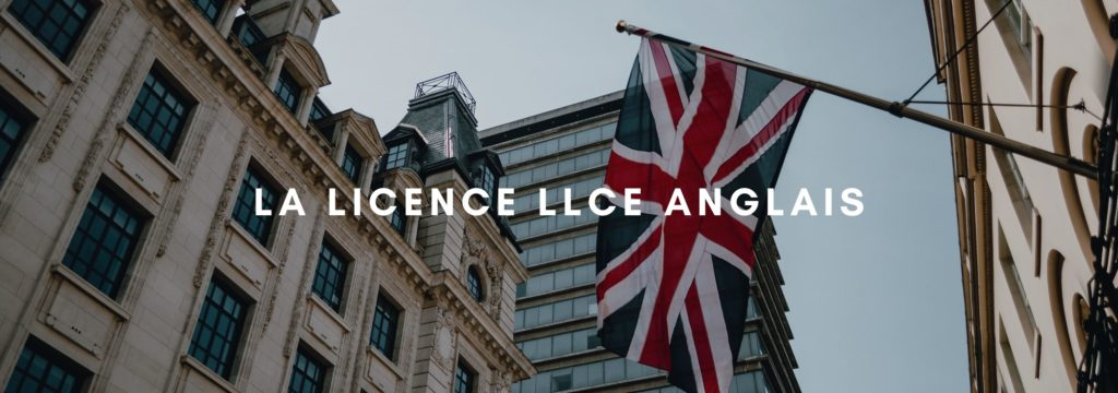 La licence LLCE Anglais