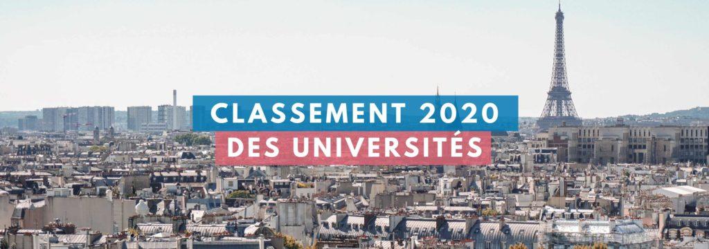 Classement 2020 des universités françaises
