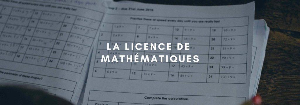 Licence Mathématiques