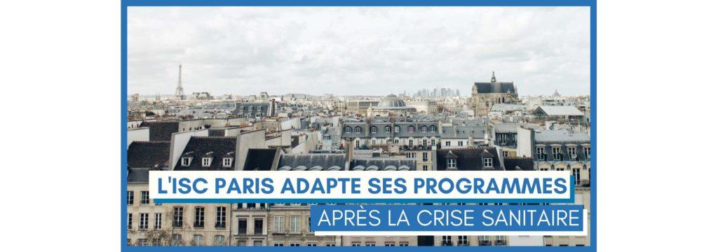 ISC Paris adapte ses programmes