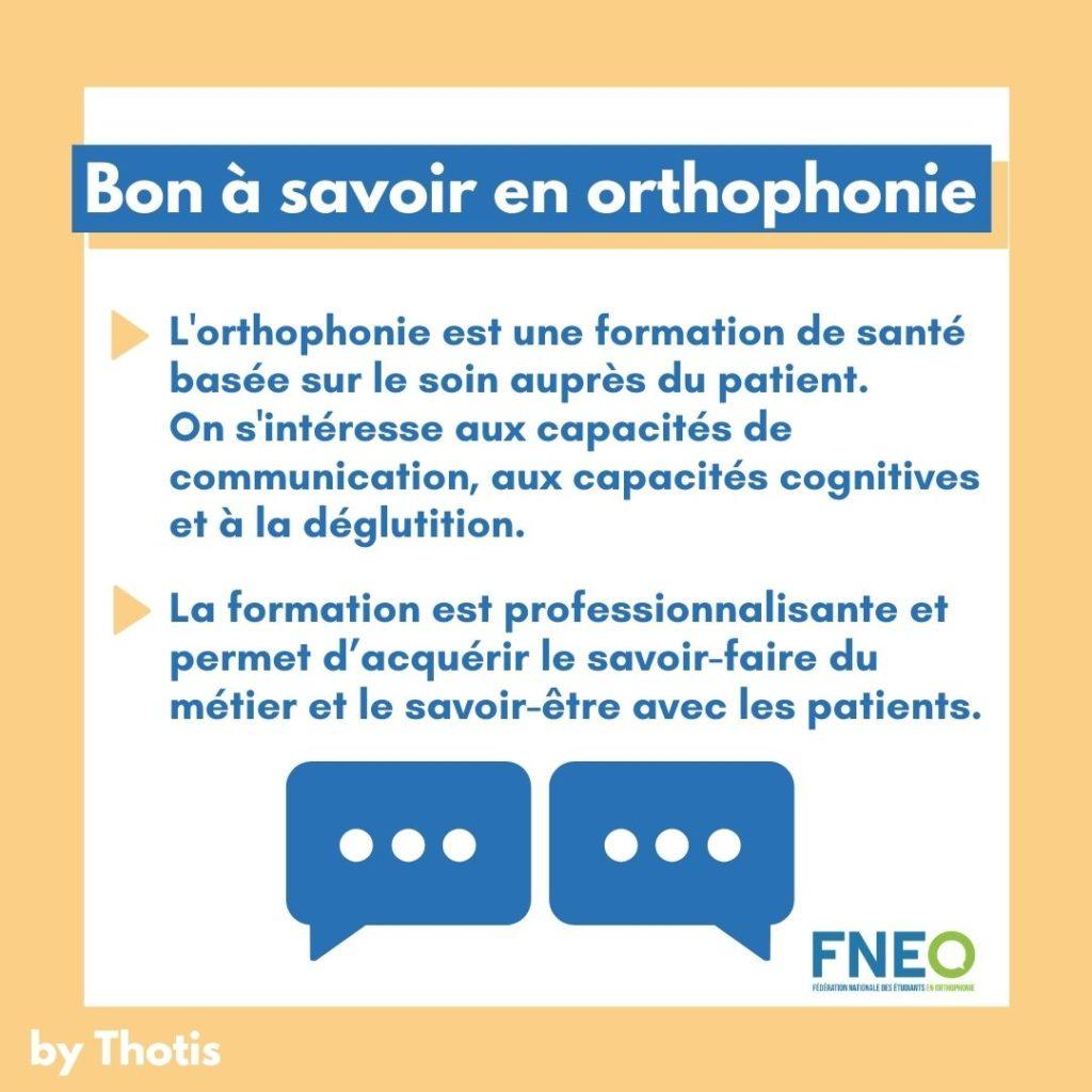 Études d'Orthophonie