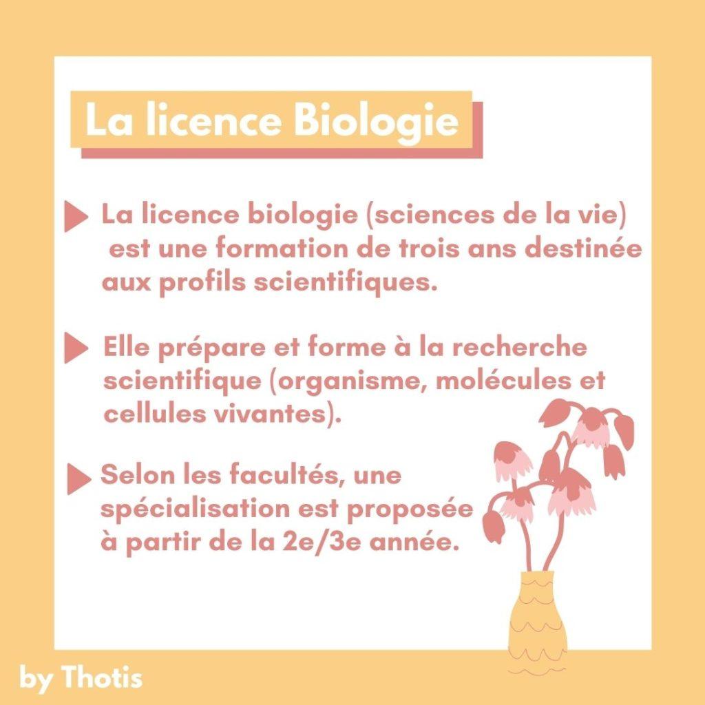 La licence de biologie en bref