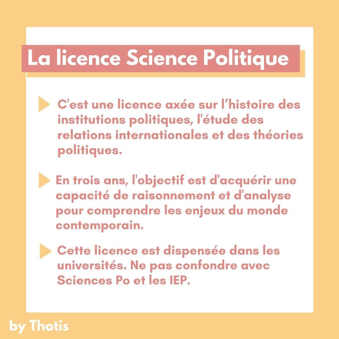 La Licence Science Politique