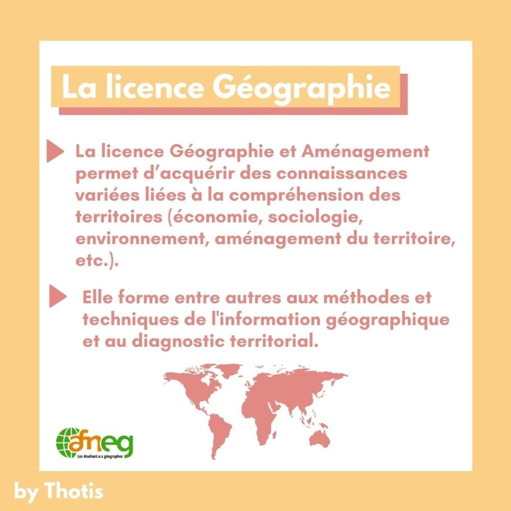 Présentation Licence Géographie