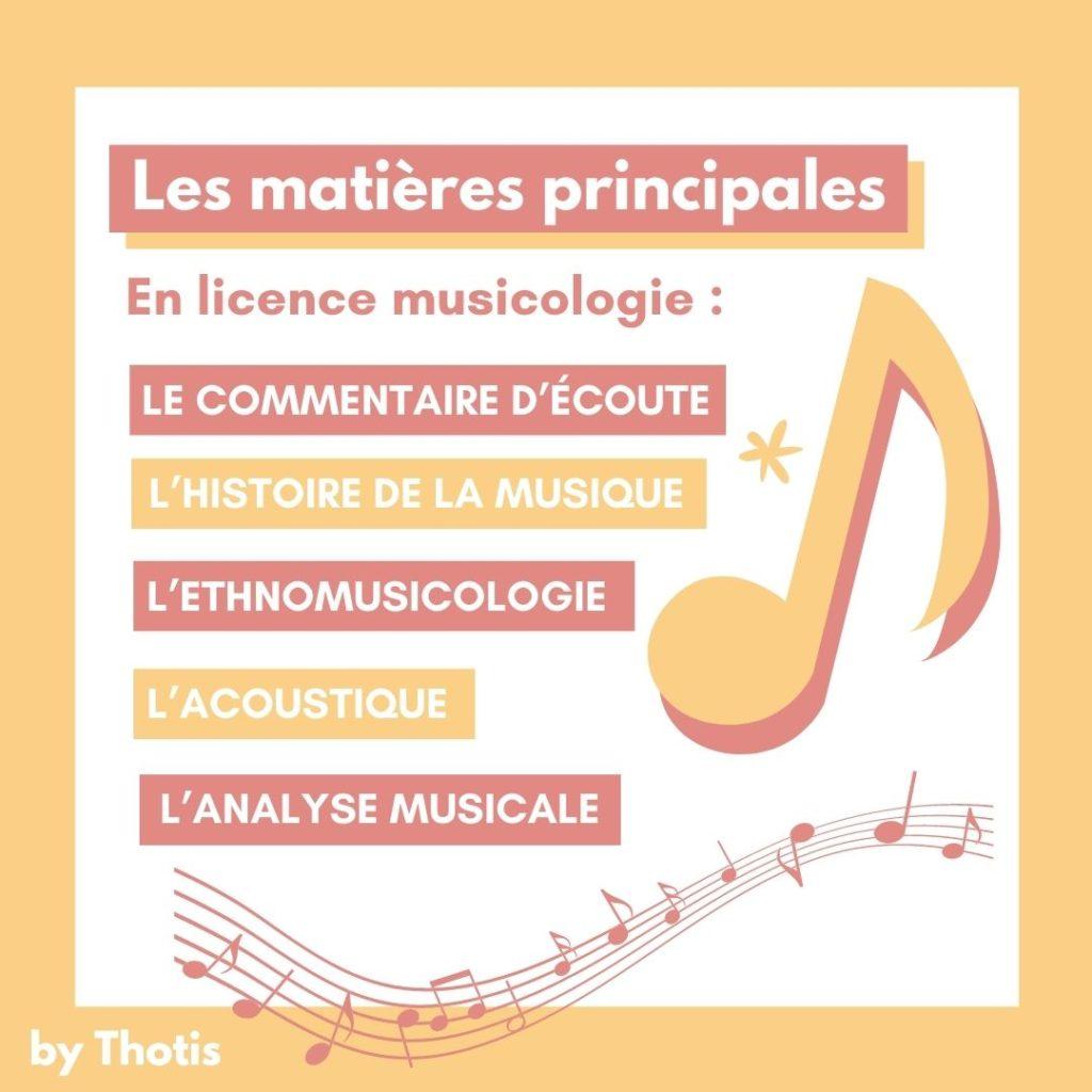 Matières musicologie