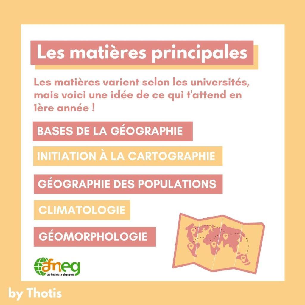 Matières Licence géographie
