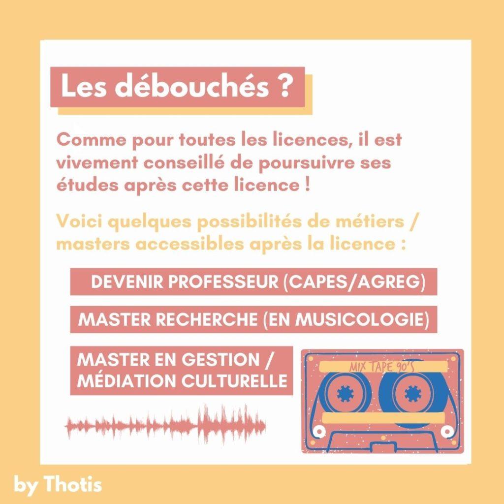 Débouchés musicologie
