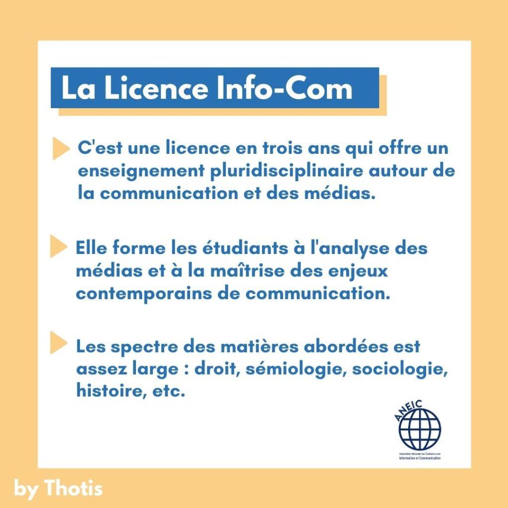 présentation licence information communication