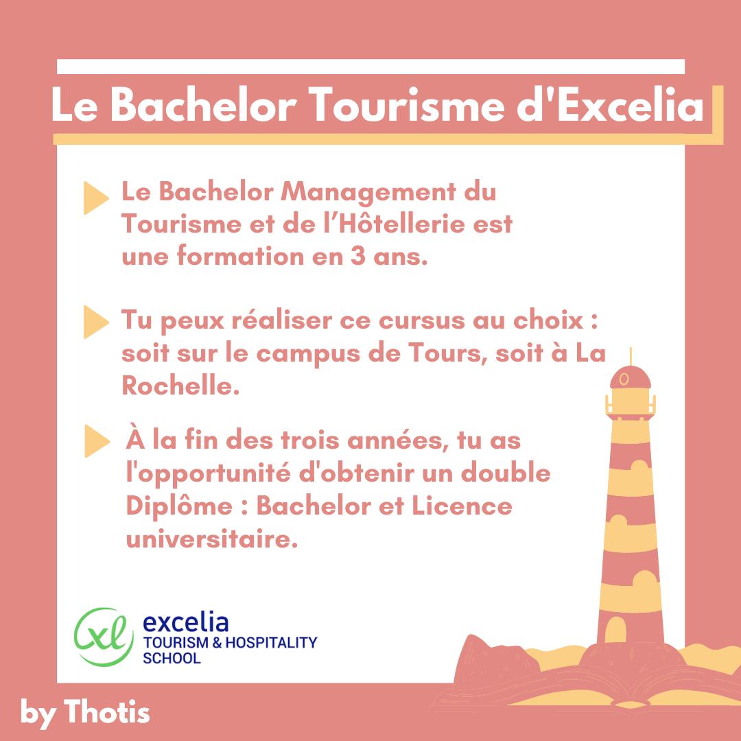 Le Bachelor tourisme d'Excelia
