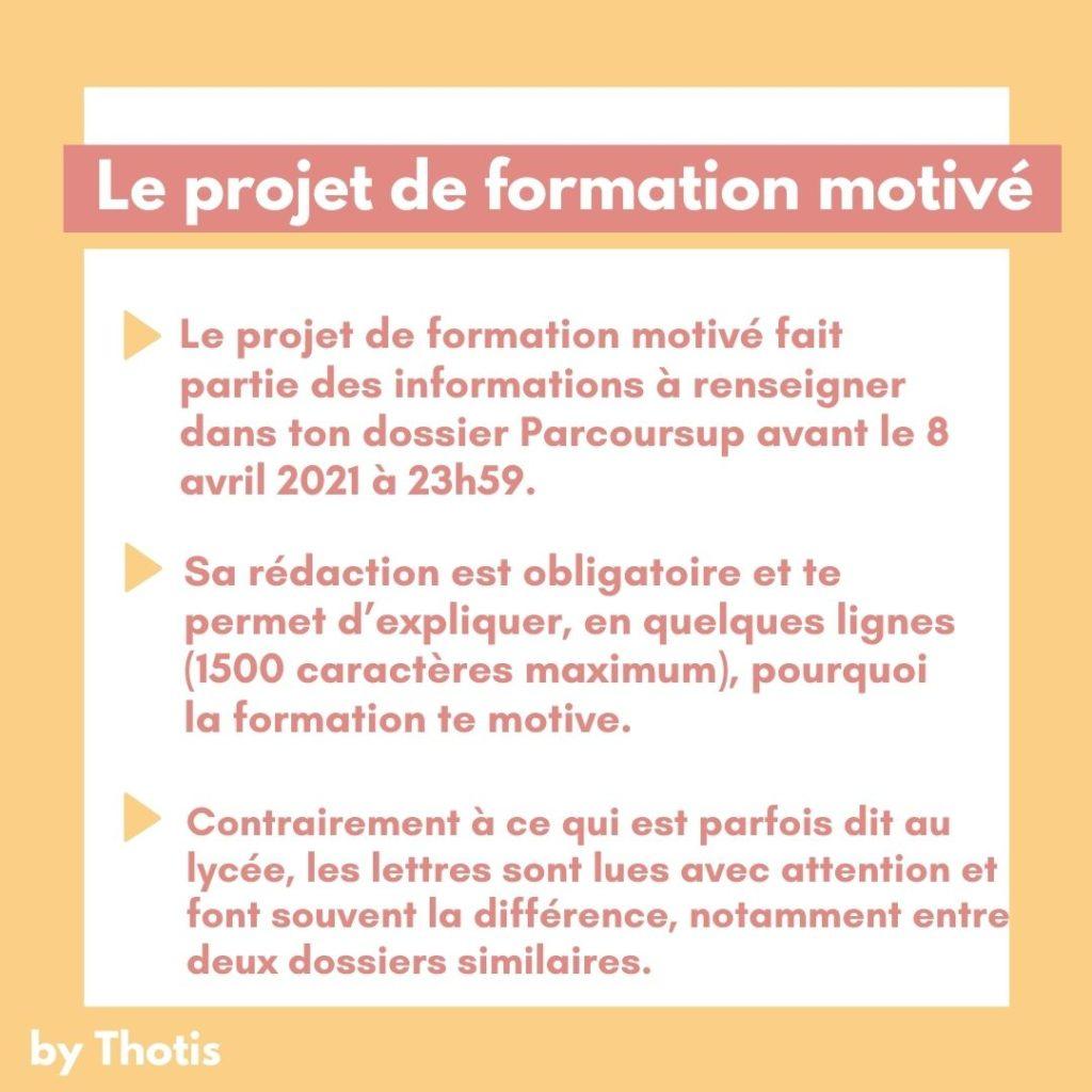 Projet de Formation motivé