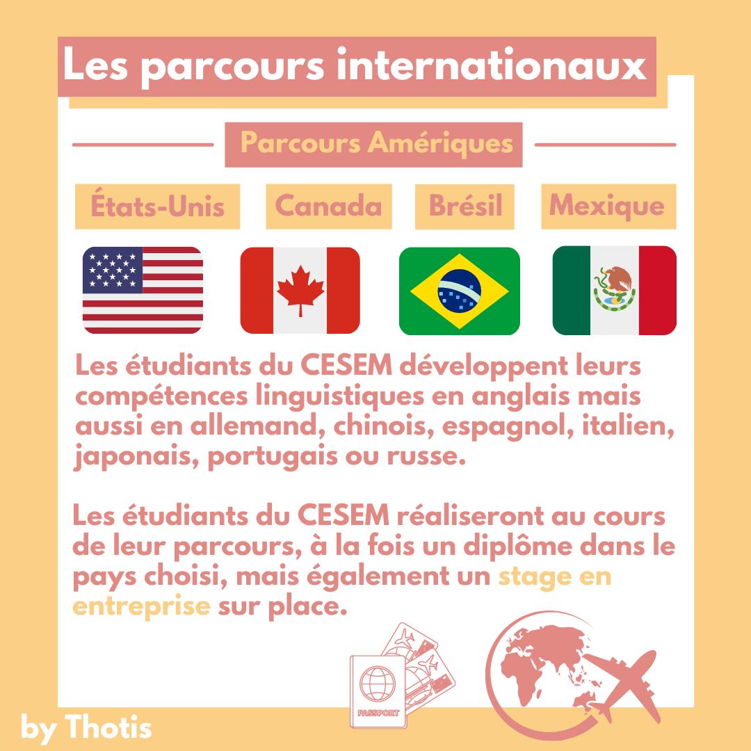 Les parcours internationaux du CESEM