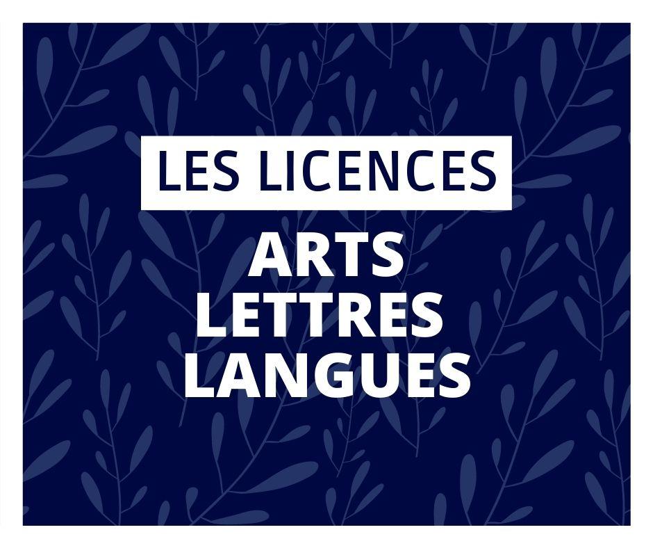licences arts lettres langues