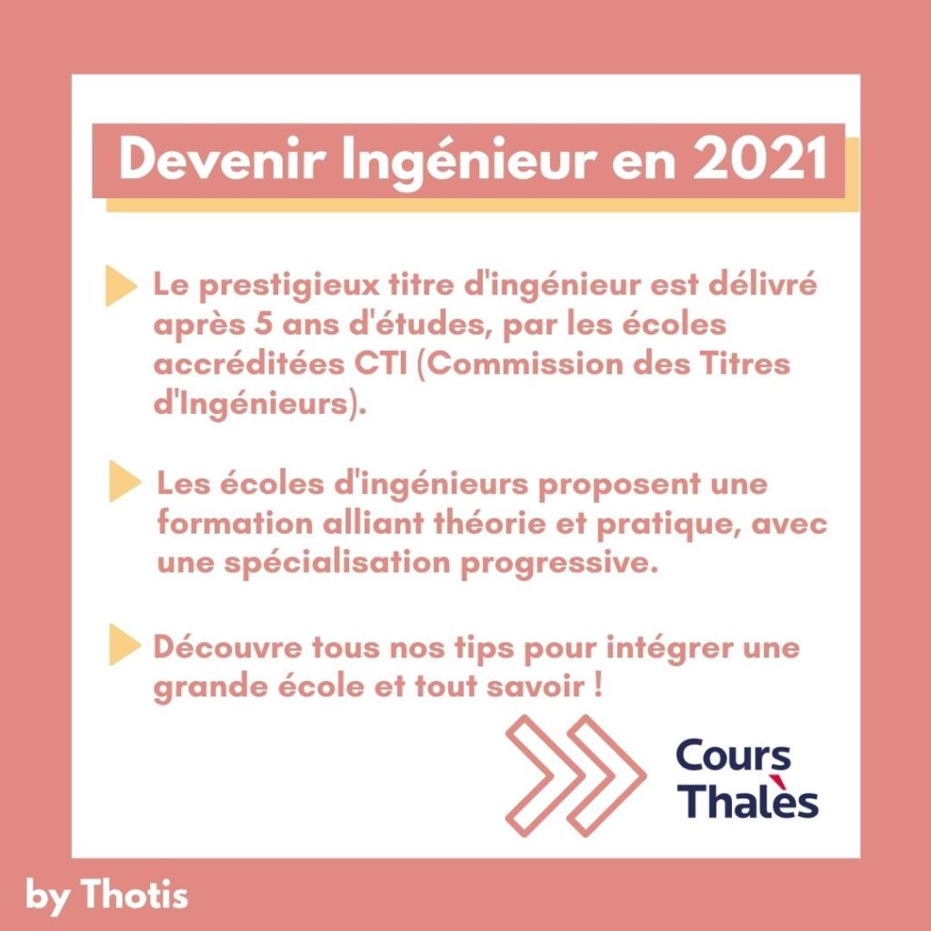 Devenir ingenieur en 2021