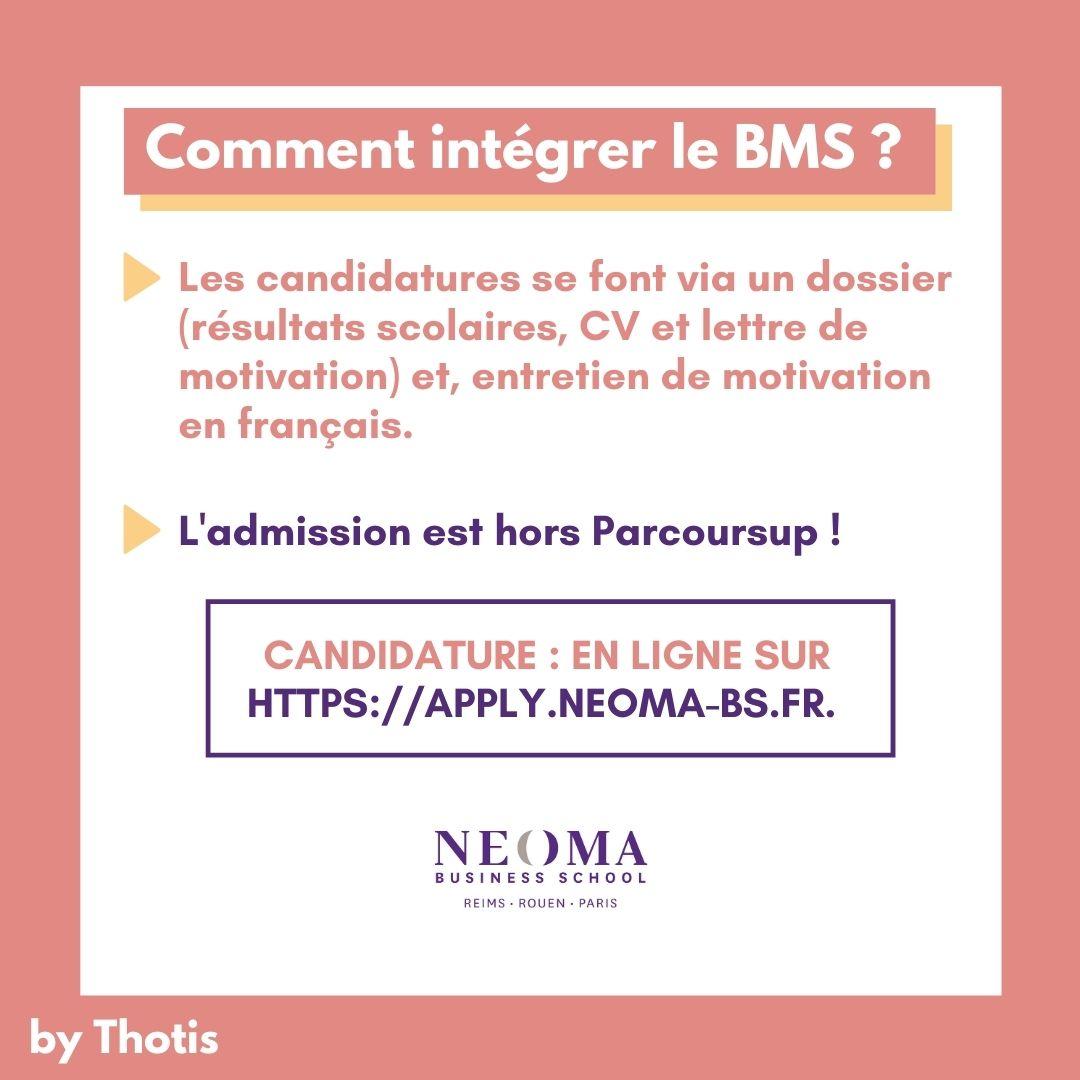Comment intégrer le BMS de NEOMA ?