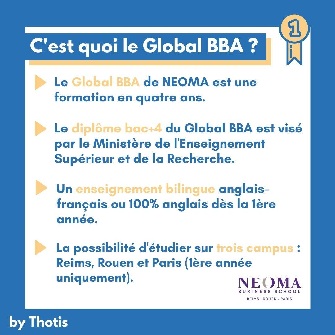 C'est quoi le Global BBA de NEOMA