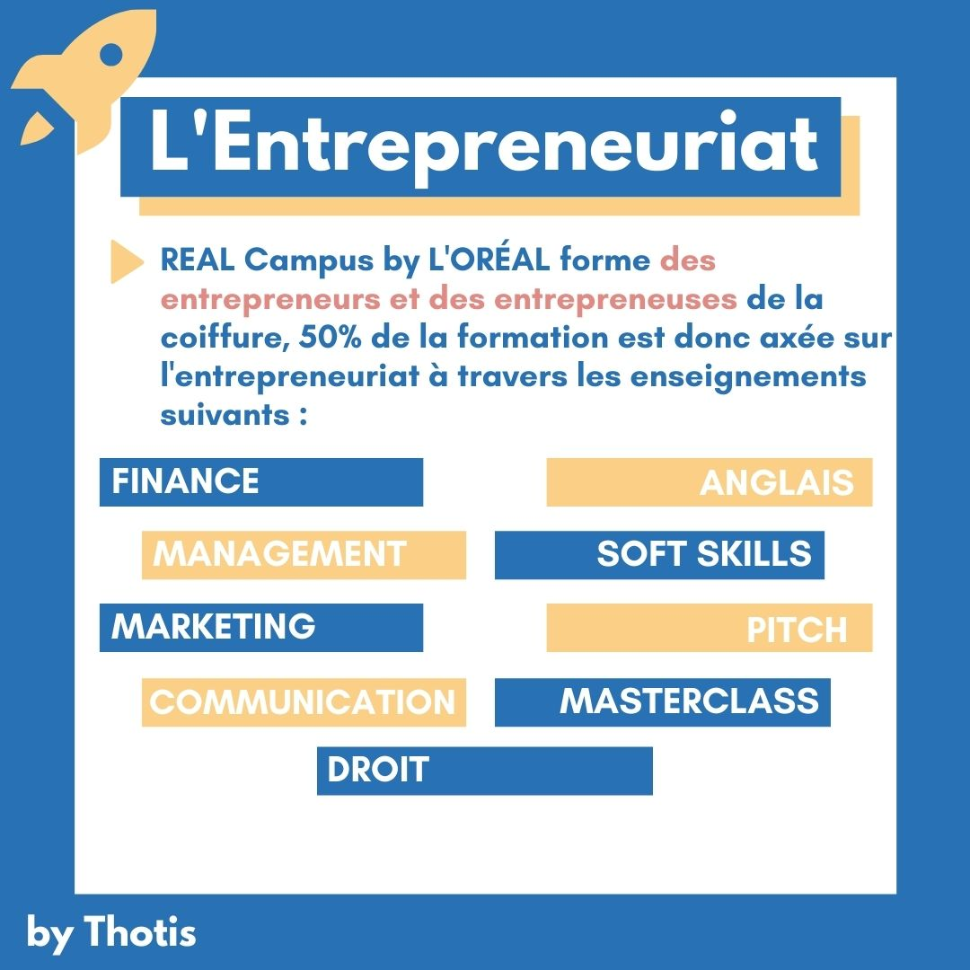 L'aspect entrepreneuriat REAL Campus by L'Oreal