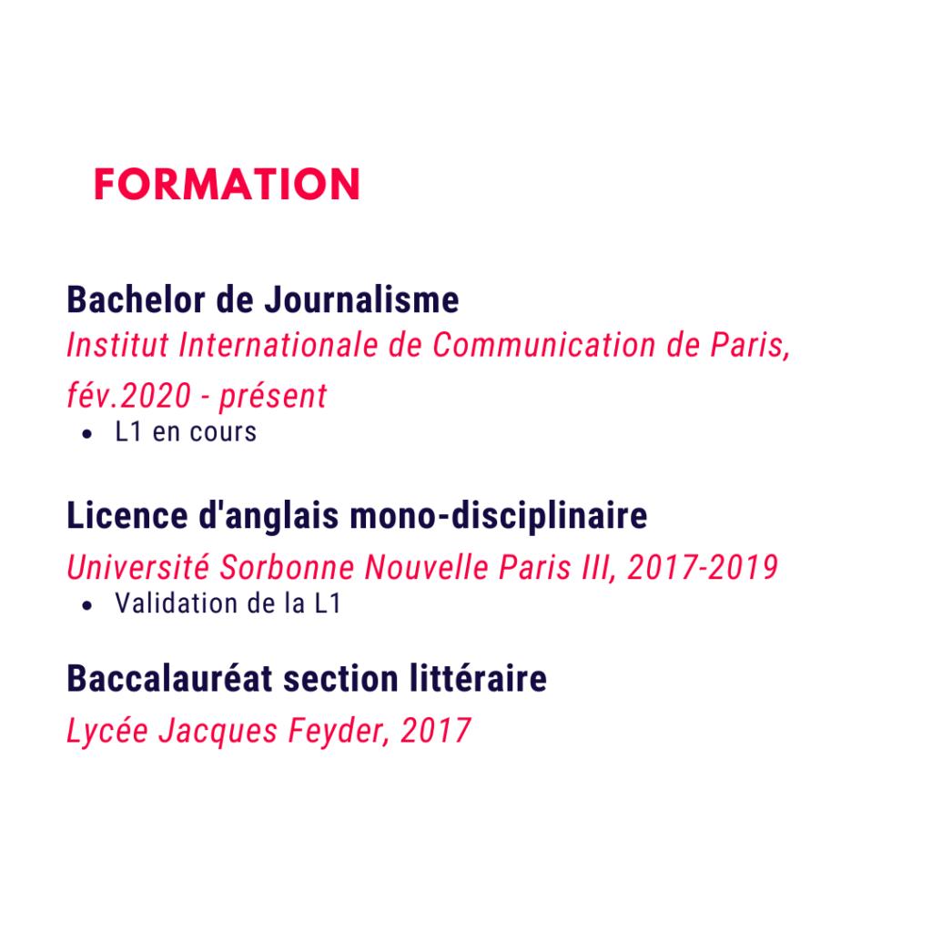 Exemple de qualifications